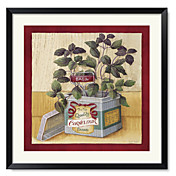 Framed Art Print Floral Cornflour by Lisa Audit