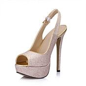 Sexy Sparkling Glitter Stiletto Heel Pumps With Buckle Party/Evening Shoes