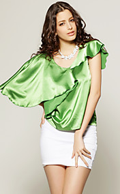 TS Asymmetrical Ruffle Blouse Shirt