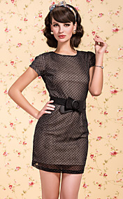 TS VINTAGE Shimmering Polka Dot Backless Dress
