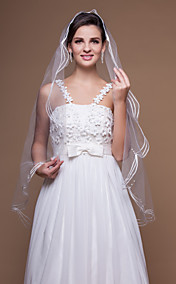 One-tier Elbow Wedding Veils With Cut Edge (More Colors)