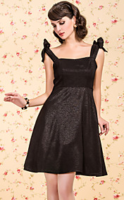 TS VINTAGE Bow At Shoulder Pleats Dress