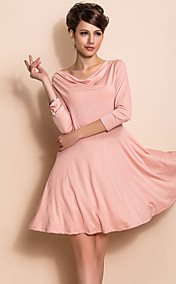 TS Enkelhet cowls Collar Swing Jersey Dress