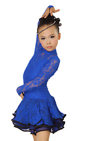Performance Dancewear Chiffon with Lace Dance Dress For Children