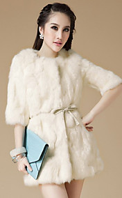3/4 erme snipp Rabbit Fur Casual / Party Coat (Flere farger)