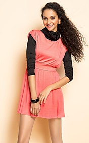 TS Two Pieces Like High Neck Jersey Dress