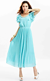TS Ruffle Sleeve Gather Midi Dress