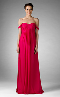 Empire Sweetheart Floor-length Chiffon Bridesmaid/Golden Globe Dress