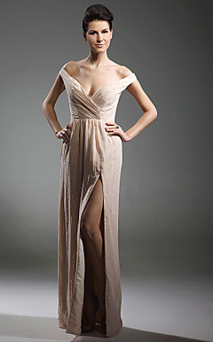 Chiffon Sheath/ Column V-neck Floor-length Evening Dress inspired by Kate Hudson