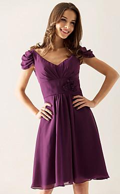 BEVERLY - Vestido de Casamento e Madrinha em Chifon e Cetim Elástico