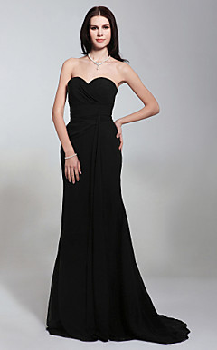 Chiffon Trumpet/ Mermaid Sweetheart Evening Dress Inspired by Angelina Jolie at the 81st Oscar