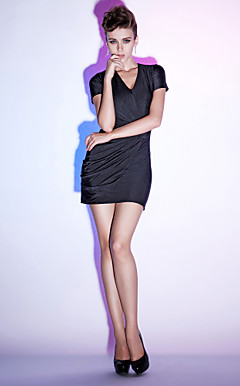 Chiffon Sheath/Column V-neck Short/Mini Cocktail Dress inspired by Kate Middleton