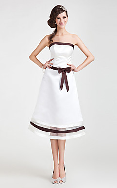ANCHORAGE - Robe de Demoiselle d'Honneur Organza Satin