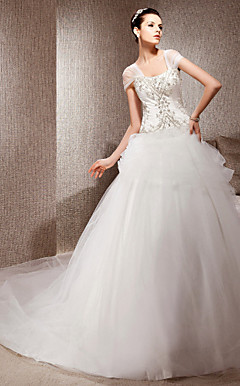 LINDSAY - Abito da Sposa in Raso e Tulle