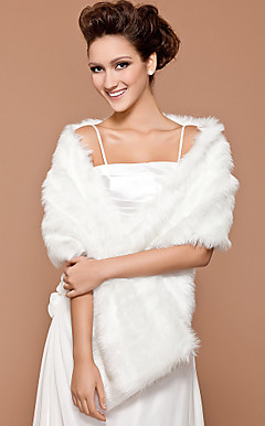 faux fur bridal casamento xale