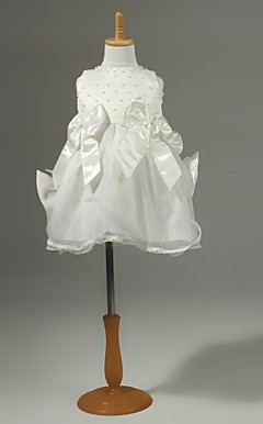 Chiffon Flower Girl Dress With Bow