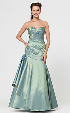 Trumpet/Mermaid Sweetheart Floor-length Taffeta Bridesmaid Dress