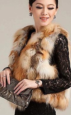 Wonderful snipp Red Fox Fur Casual / Party Vest