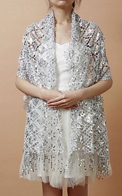 Nice Sequined Evening/Wedding Shawl