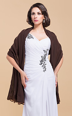 Elegant Chiffon With Lace Wedding/Evening Shawl (More Colors)