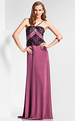Sheath/Column Straps Floor-length Knitwear Evening Dress