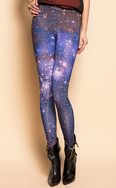 TS Estrella Imprimir Leggings asimtricas