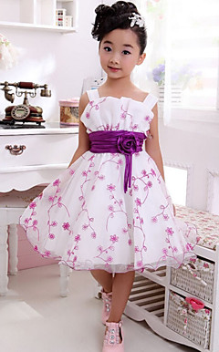 Nice Sleeveless Polyester Wedding/Evening Flower Girl Dress