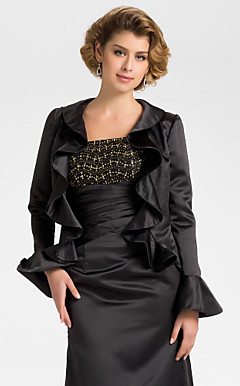 Long Sleeve Satin Evening/Wedding Wrap/Jacket (More Colors)