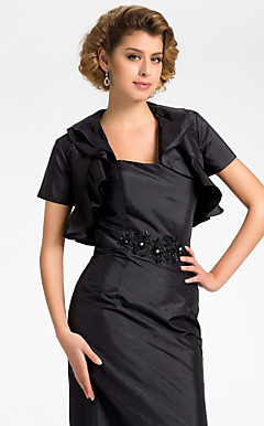Short Sleeve Taffeta Evening/Wedding Wrap/Jacket (More Colors)