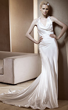 SILJA - Vestido de Noiva em Cetim Elástico
