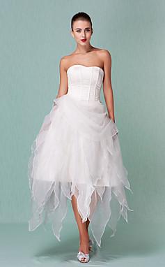 الجملة الجملة Dara-  Alyssa- فستان زفاف- الساتان- الأورجانزا