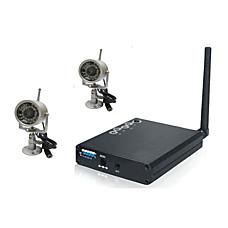 venta al por mayor 2,4 GHz de cuatro canales de red inalámbrica usb kit de cámara inalámbrica 2x con cámaras de visión nocturna (szq373)