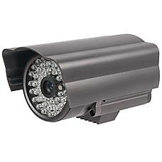 venta al por mayor cámara impermeable con CCD color fuerte + ir + adaptador de CA
