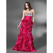 vente en gros amoureux d'une ligne-de-chaussée-longueur taffeta robe de soirée robe à paillettes (fsh02419)