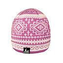 SAMII Jacquard Argyle Knit Beanie Cap Hat-Purple (0016) (Start From 20 Units)-Free Shipping