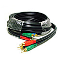 6Ft 3 RCA Component Video Cable FOR HDTV DVD VCR (MONO015)(Start From 100 Units)-Free Shipping