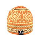 SAMII Jacquard Argyle Knit Beanie Cap Hat-Orange (0016) (Start From 20 Units)-Free Shipping
