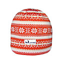 SAMII Jacquard Argyle Stripe Knit Skull Cap Hat / Orange (0015) (Start From 20 Units)-Free Shipping