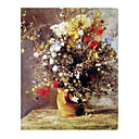 Handmade Flowers Art Oil Painting on Canvas With Wood Frame/High quality (GDH-156)-Free Shipping