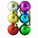 1-Piece Traditional Color Christmas Ball Ornaments 8CM (SDZS003) (Start From 500 Units)Free Shipping