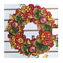 PVC 28CM Indoor Outdoor Christmas Pine Wreath (SDZS010)(Start From 50 Units)-Free Shipping