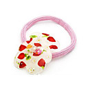 Red Stawberry Plastic Ponytail Holder -YFF169 (Start From 100 Units)