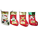 1-Piece Plush Christmas Stocking , 32CM (SDWZ004) (Start From 200 Units)Free Shipping