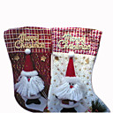 1-PC Plush Glitter Decorated  Christmas Stocking 46CM (SDWZ006) (Start From 100 Units) Free Shipping