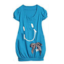1-pc sourire shirt long / robe, une taille (yfns035) ( partir de 10 units) Livraison gratuite