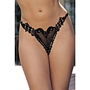 Black T-Back Panties Embroidered Butterfly (LRB5002)