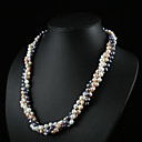 "Multicolor AA Freshwater Pearl Twist-style Necklace 16"" Length (Start From 3 Units) -Free Shipping"