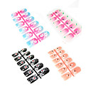 600 PC Crystal Design Art Acrylic False Nails Tips 8 Styles