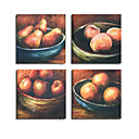 pittura a olio handmade frutti rustico - 4pc tela set (szh421)