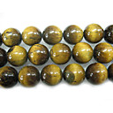 "16"" 14mm Round Natural Tigereye Stone Loose Strand Gemstone Beads (Start From 5 Units)"